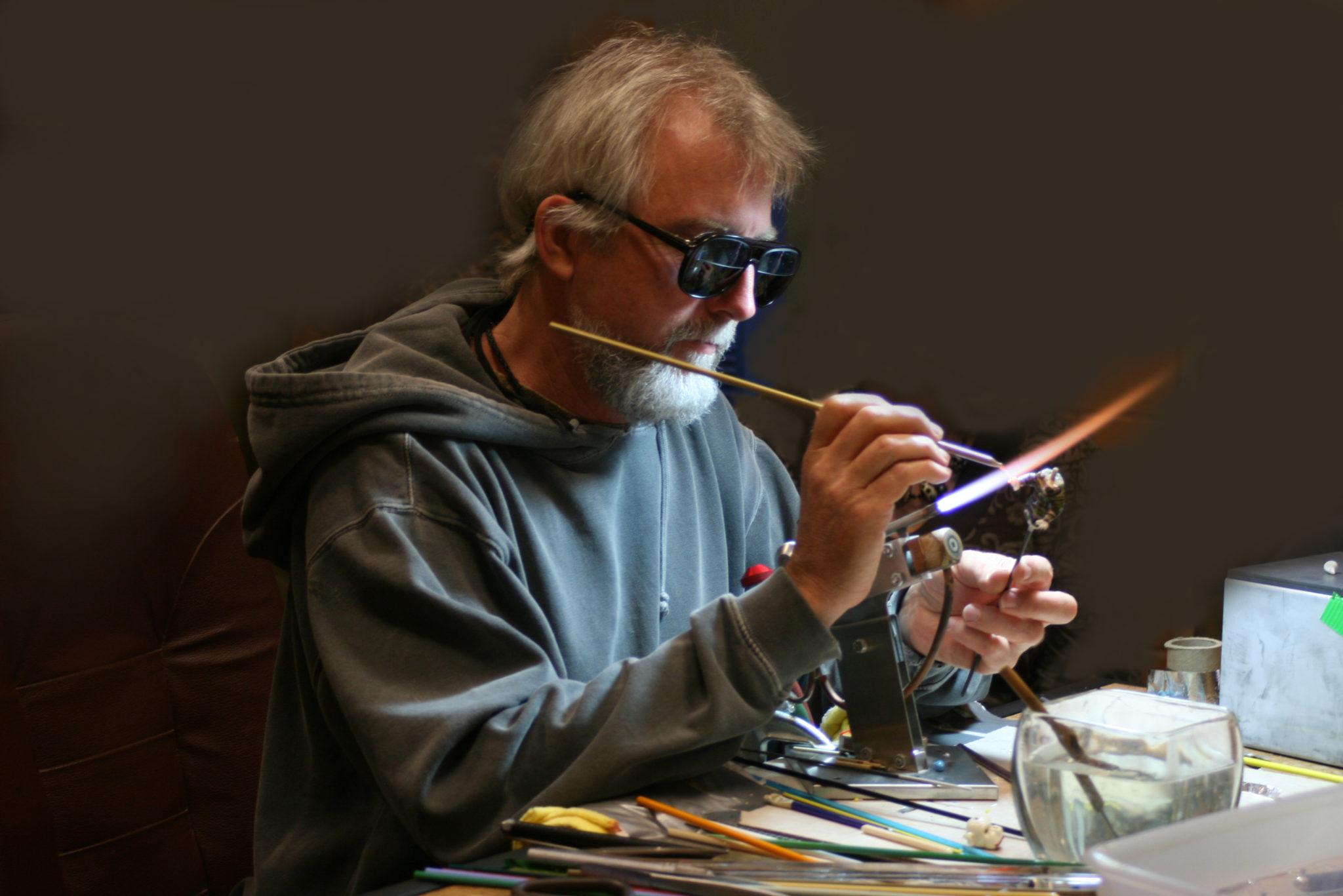Wayne Robbins at work
