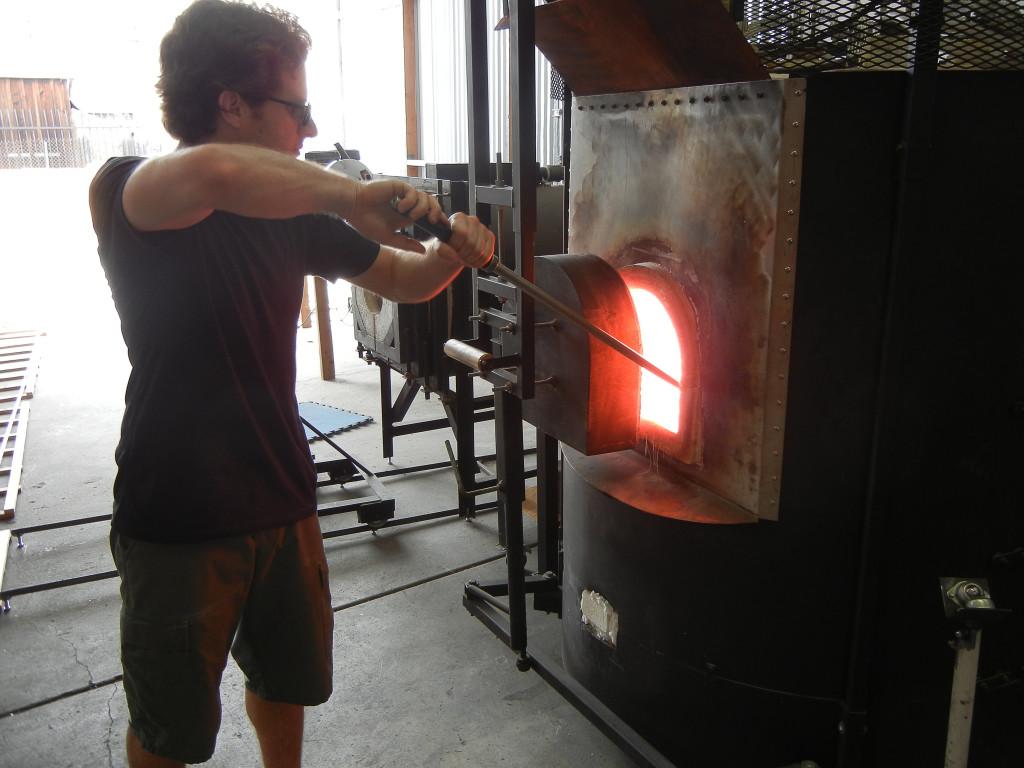 Carolyn Wang: loading a kiln - Association of Clay and Glass Artists of California