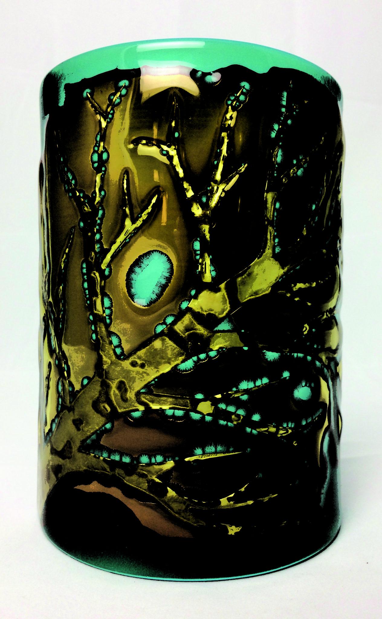 Brass branch candlescreen - April Zilber - Glass Artist -ACGA