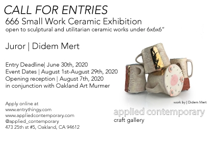 Small Work Ceramic Exhibition-Call for Entries - April 2020