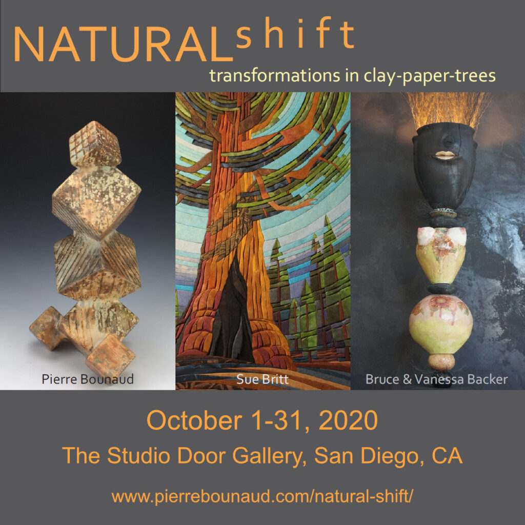 Natural Shift - Transformatons in Clay-Paper-Trees - The Studio Door Gallery, San Diego